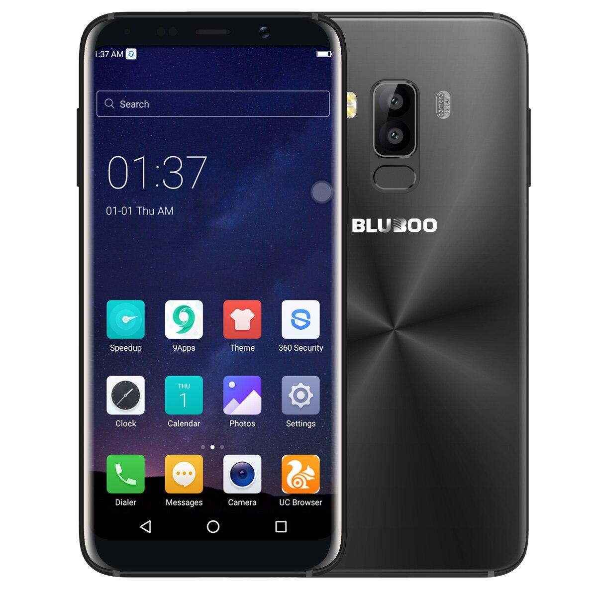 Bluboo S8 5.7 pouce 4g Smartphone Android 7.0 18:9 Plein Écran MTK6750T Octa Core 3 gb RAM 32 gb ROM Double Caméras Arrière