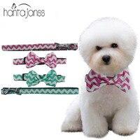 HANTAJANSS Bow Tie Dog Collar Kitten Cat Puppy Chihuahua Harness Leash Set Dog Accessories Pet Shop
