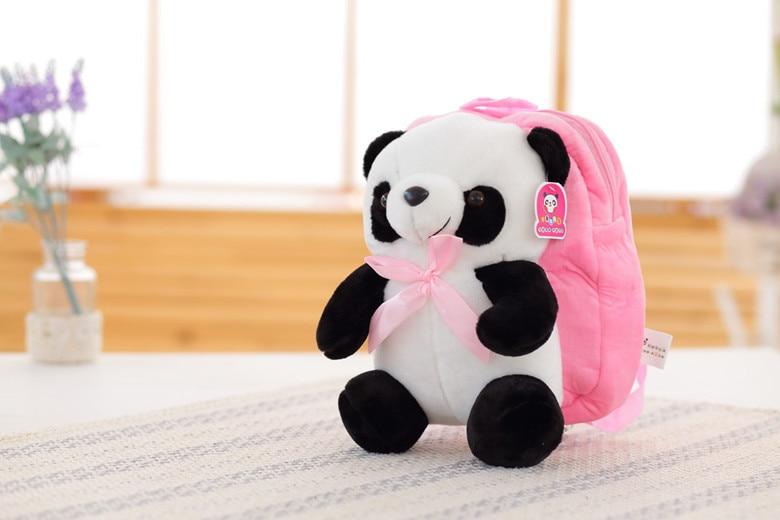 kawaii söta fyllda djur panda skolväska ryggsäck 30cm plysch ... 44a84c4acbf3a