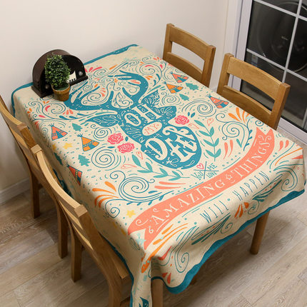 European Tablecloths Rectangular Round Linen Floral Cotton Fabric Covers  Decoration Blanket Drap Oilcloth Table Cloth DD0640 In Tablecloths From  Home ...