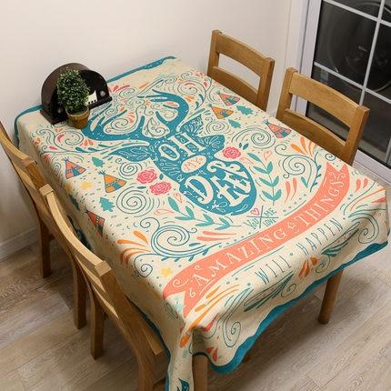 European Tablecloths Rectangular Round Linen Floral Cotton Fabric Covers  Decoration Blanket Drap Oilcloth Table Cloth DD0640