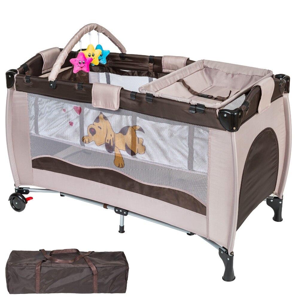 Постельное белье манеж ребенок портативный кровать Открытый Многофункциональный путешествия портативный ребенок плохо складной пупсиков маленьких кровать для игр HWC