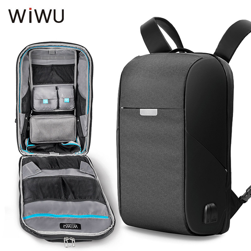 WIWU Onepack 15.6 inch USB Charge Laptop Backpack For Men Storage Pouch Bag Waterproof Large Capacity Travel Backpack 2018 NewWIWU Onepack 15.6 inch USB Charge Laptop Backpack For Men Storage Pouch Bag Waterproof Large Capacity Travel Backpack 2018 New