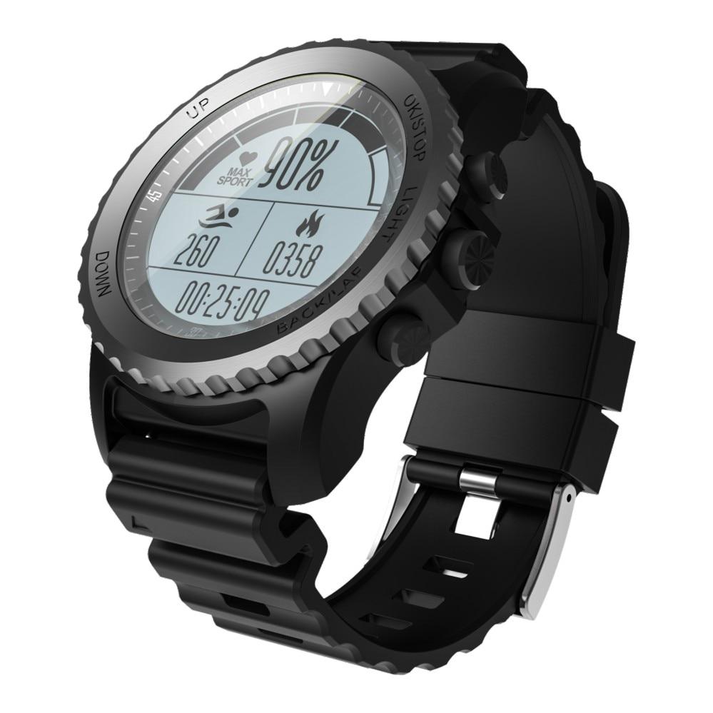 50b468b72fe6 S968 GPS reloj inteligente IP68 impermeable Smartwatch ritmo cardíaco  barómetro termómetro altímetro hombres buceo natación correr reloj en  Relojes ...
