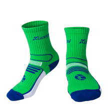 Kuangmi 1 Pair Sports Running Basketball Socks for Kids Breathable Compression Outdoor Soccer Football Sock Stocking Boys Girls
