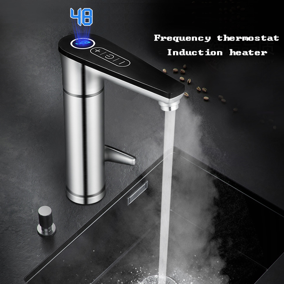 Kbxstart Electric Touch Faucet Thermostat Induction Heater Water Tap Have 220V GFCI Circuit Breaker Leakage Protector