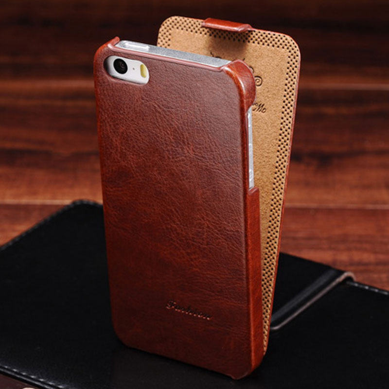 Flip PU Leather Case for iPhone 5s 5 S SE Retro Back Cover Coque with Fashion Logo Phone Bag Cases For iPhone 5 5SE