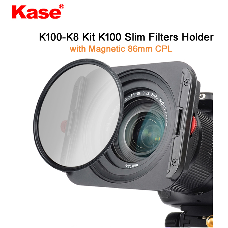 Kase K8 Slim 100mm Filter Holder Kit Includes Magnetic CPL 67mm 72mm 77mm 82mm Adapters for