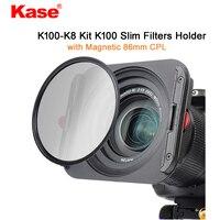 Kase K8 Slim 100mm Filter Holder Kit Includes Magnetic CPL & 67mm 72mm 77mm 82mm Adapters for Haida Lee Hitech Cokin Z Filter