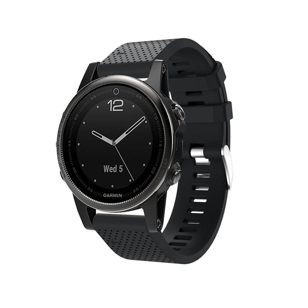 Soft Watchband Bracelet Wrist Strap for Garmin Fenix 5S Watch Replacement Silicone Band Garmin Fenix 5S Plus Sport Band Strap
