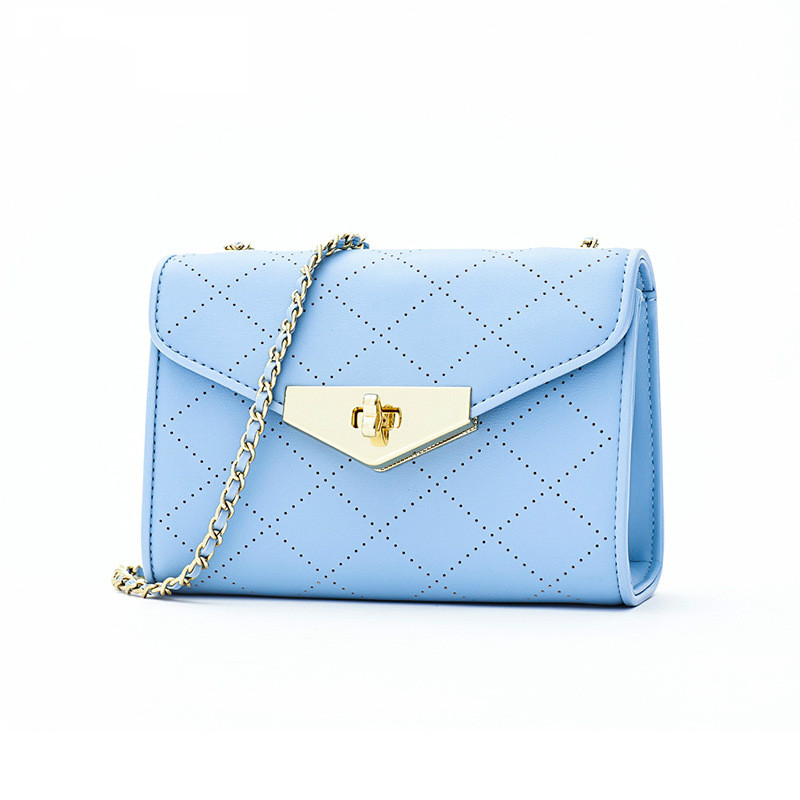 Korean Style Lingge Hollow Out Chains Ladies Hand Bags Genuine Leather Shoulder Cross Body Bag Womans Bags Brand Designers 2019Korean Style Lingge Hollow Out Chains Ladies Hand Bags Genuine Leather Shoulder Cross Body Bag Womans Bags Brand Designers 2019