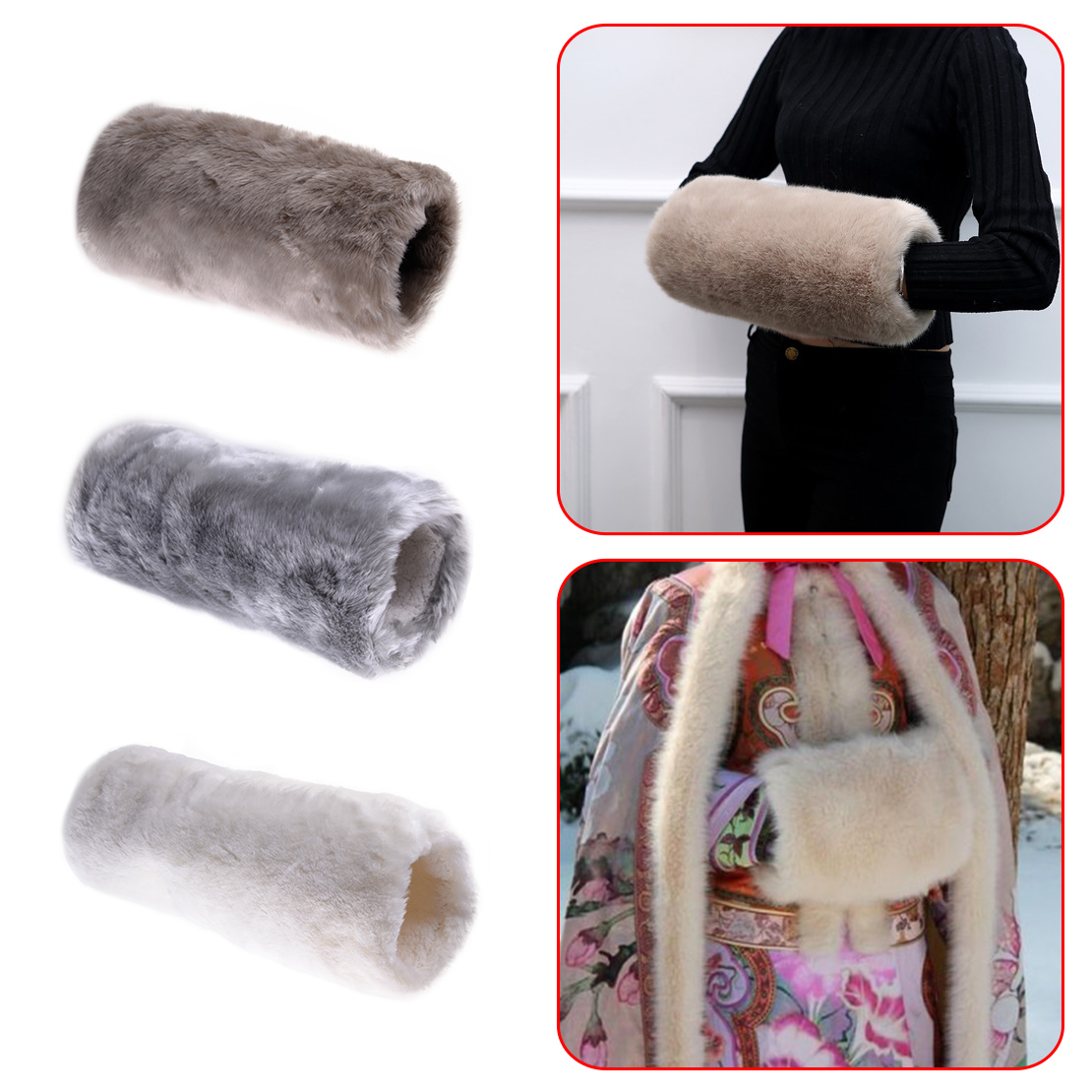 New Fashion Women Gloves Luxurious Super Soft Faux Fur Muff Hand Warmer Challenge Glove Mittens Winter Necessary