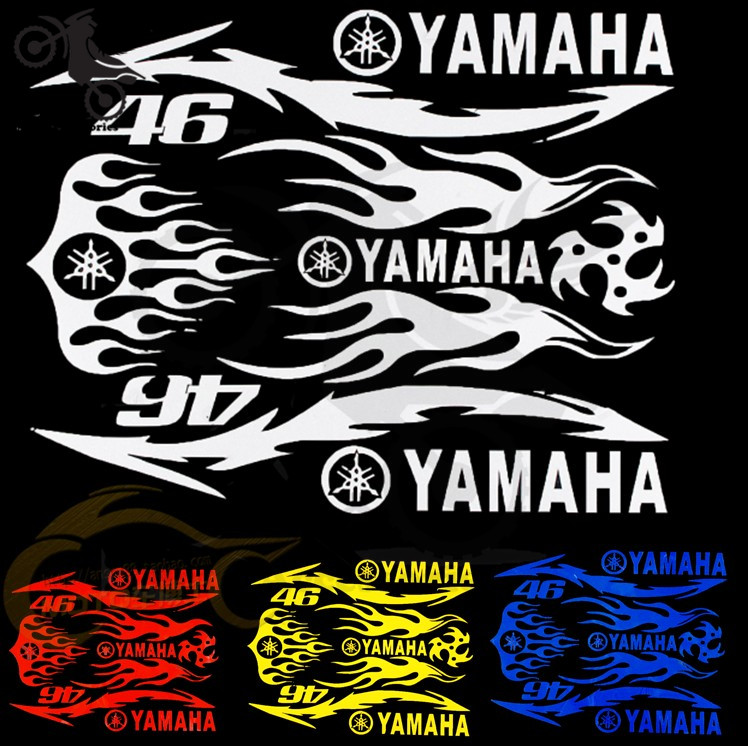 4 colors optional brand motorcycle sticker for yamaha stickers waterproof motorbike stickers motor decals car styling reflective in decals stickers from