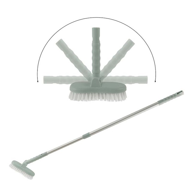 Stretchable Aluminum Pole Tiles Brush Long Handle Rotate Mop