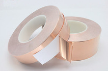 цена на 30 Meters Single Side Conductive Copper Foil Tape Strip Adhesive EMI Shielding Heat Resist Tape 5mm 6mm 8mm 10mm 15mm 20mm 30mm