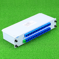 KELUSHI 1X 32 SC UPC Inserted PLC Fiber Optical Splitter Optical Fiber Branching Device