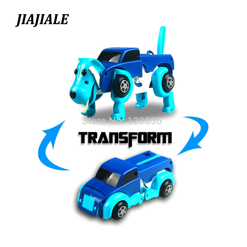 цены free shipping 4 colors 14CM cool Automatic transform Dog Car Vehicle Clockwork Wind up toy for children kids boy girl toy Gift