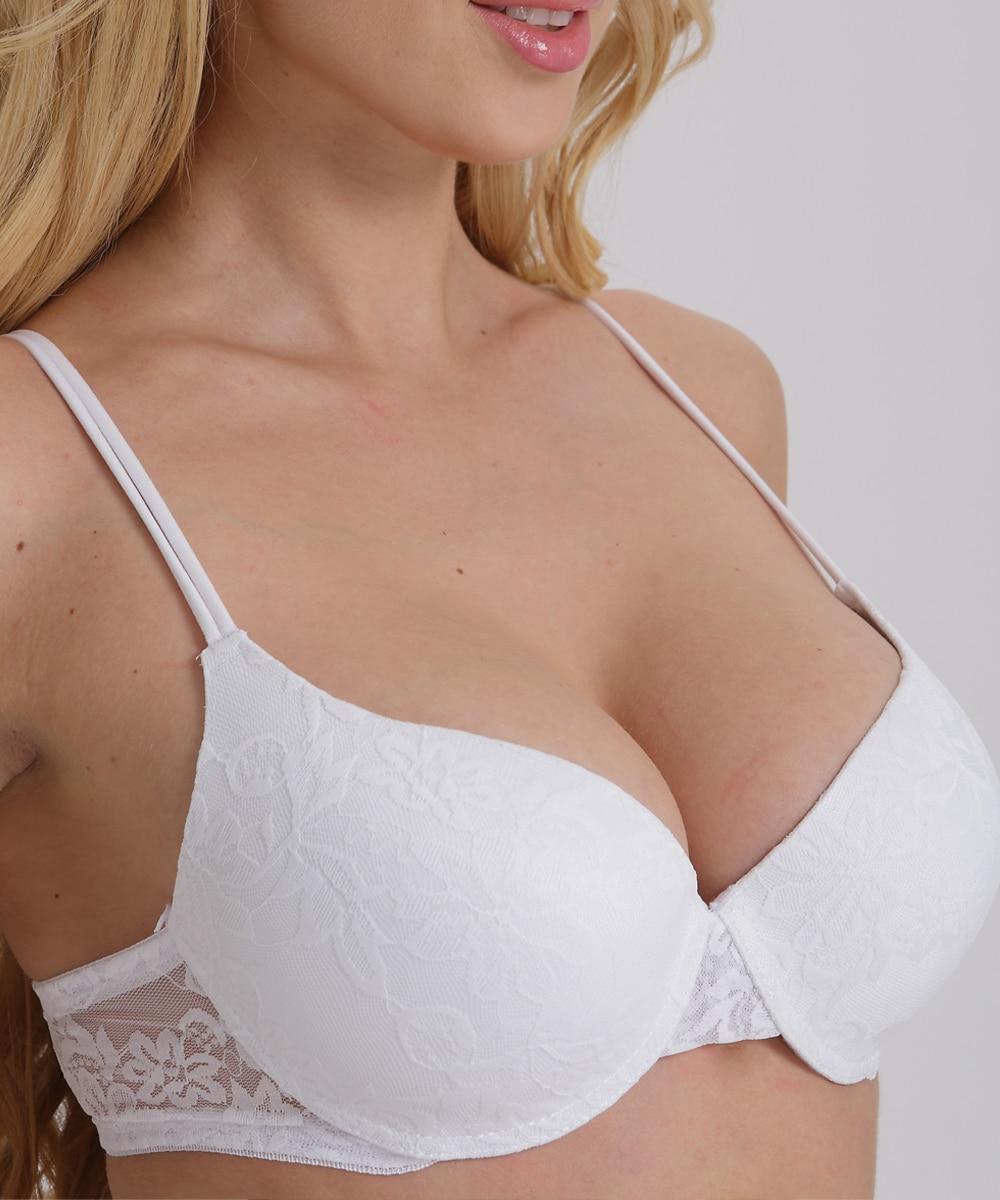 Sexy Push Up Bra Plus Size A B C D E Cup Bra Brassiere Adjustment Plunge Lingerie Bras For Women Underwire Underwear BH Top