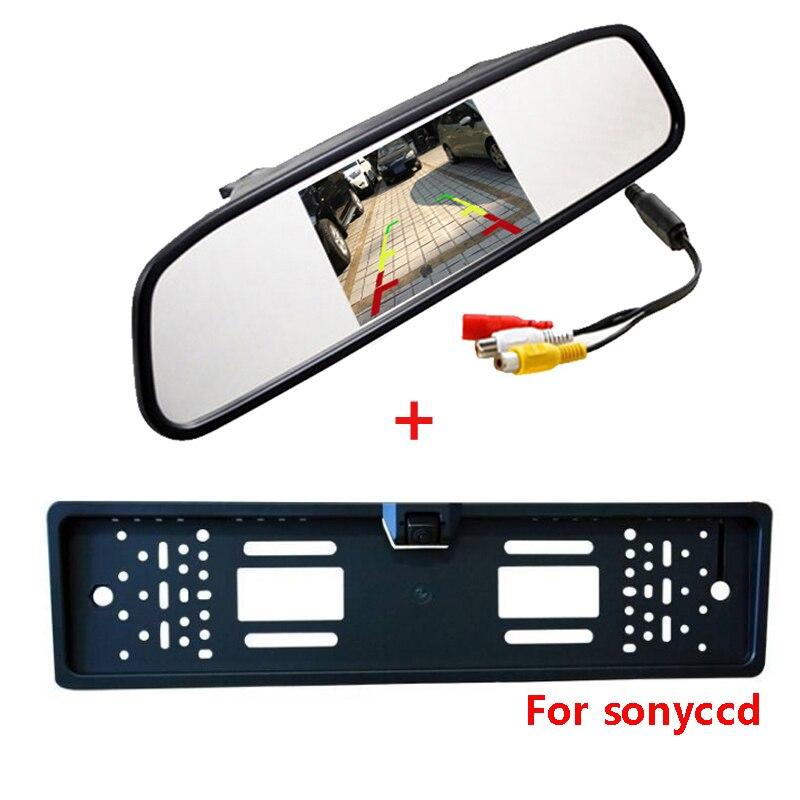CCD rückfahrkamera mit LCD spiegel monitor 4,3 zoll TFT LCD 2way LEDs CCd reverse rückfahrkamera parkplatz