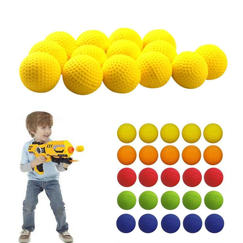 20 Pcs High Quality Ball Bullets For Rival Zeus Apollo Toy Gun Soft Round Darts For Rivals Gun Best Gift About 2.2cm
