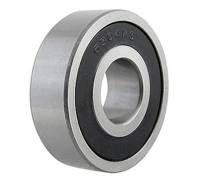 6304RS Deep Groove Radial Rubber Sealed Metric Ball Bearing 20 x 52 x 15mm