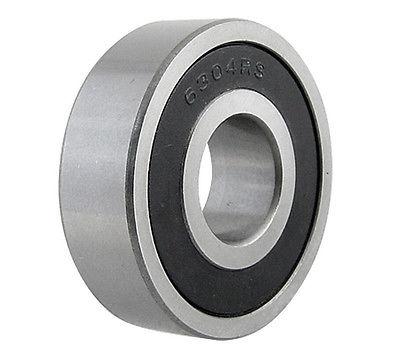 6304RS Deep Groove Radial Rubber Sealed Metric Ball Bearing 20 x 52 x 15mm 10pcs 5x10x4mm metal sealed shielded deep groove ball bearing mr105zz