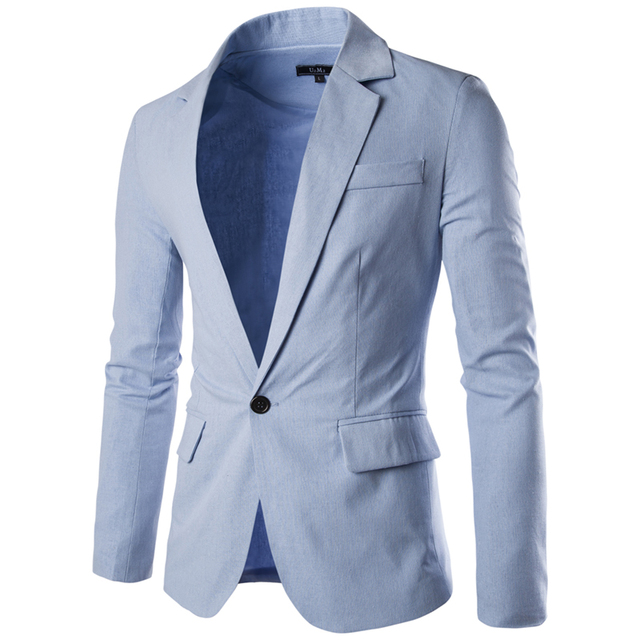 Loldeal Men's Blazer Slim Fit Long Sleeve Single Button Solid Color Suit Men's Rotwein Spring/Autumn Casual Blazer Masculino 3
