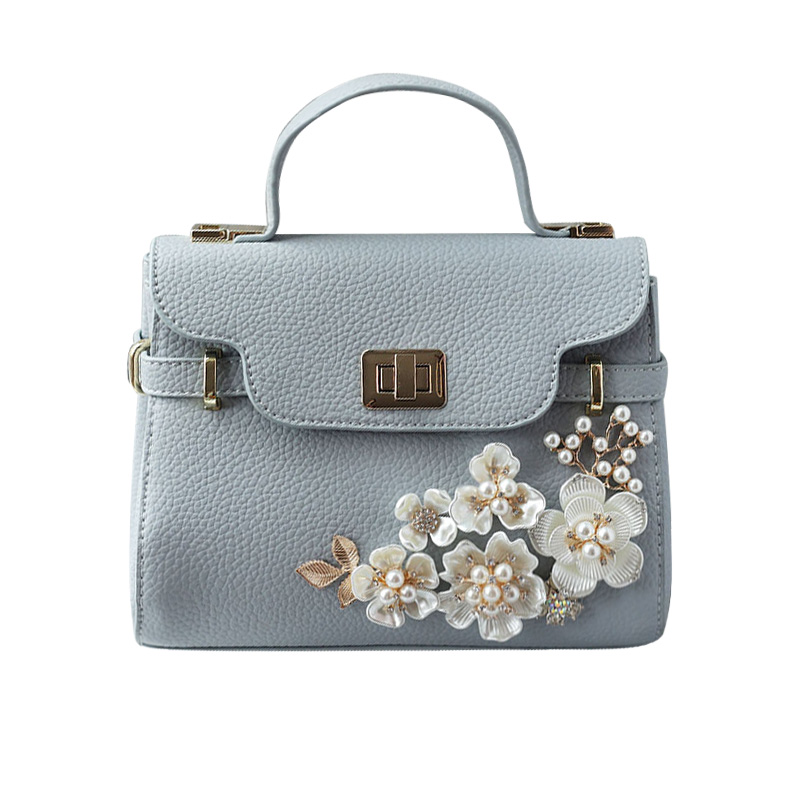ФОТО Handmade flowers pearl Women's handBags Fashion Design Diamond Women Wedding Bridal crystal Party shoulder bags Lady Luxury bags