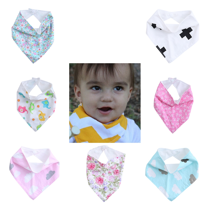 7 выкройки младенец дети младенец мальчики девочки кормление слюна полотенце капля треугольник бандана нагрудники новинка