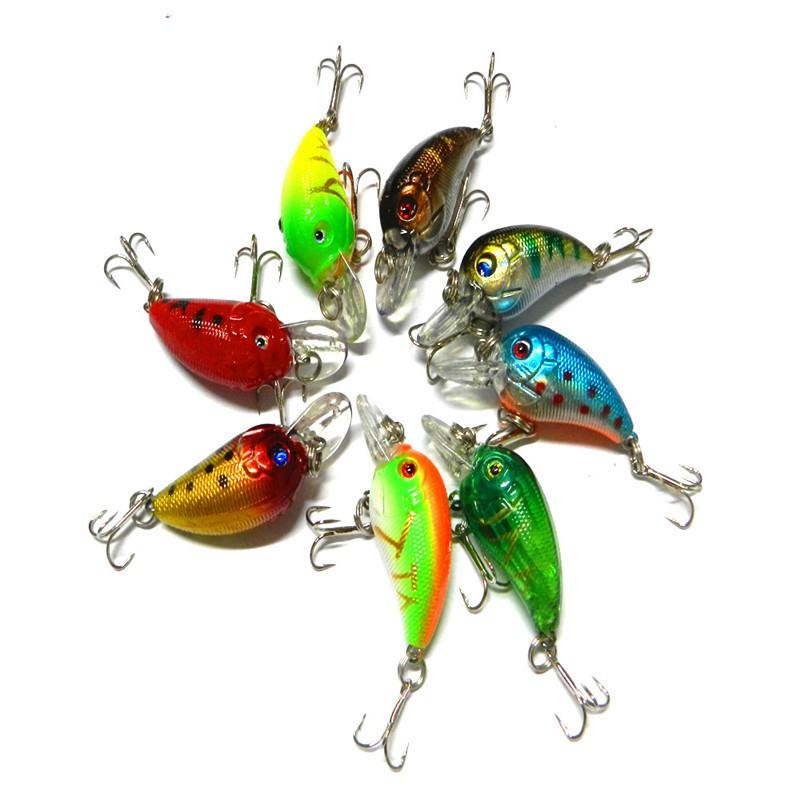 1x 4.5cm 4.2g Mini Fishing Lures Crank Baits 3d Fish Eye Simulation Minnow Crankbait Hard Plastic Laser Lure Bait Low Price (2)