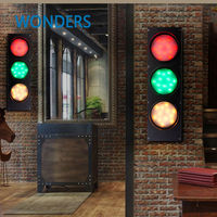 Creative 3 Color Stage Light Loft Retro Cafe Iron Wall Lamp Wall Mounted Bar Restaurant Decoration