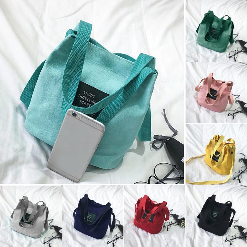 966e392eeb68d النساء قماش رسول حقيبة البسيطة واحدة الكتف حقيبة Crossbody سيدة الفتيات  اختيال حقيبة الإناث التسوق السفر أكياس حقيبة يد