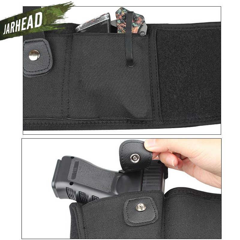 Universale Tactical Banda di Pancia Fondina Portare Nascosto della Pistola della pistola Del Sacchetto del Sacchetto Della Vita Invisibile Cintura Cintura Elastica per Outdoor Caccia