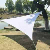 Garden Courtyard Shade Sails Exported Quality Polyester Cloth Waterproof Shade Sails Triangle Sail Metal Buckle Model