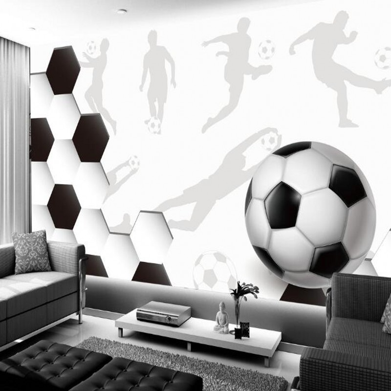 Online Shop beibehang Soccer Photo Wallpaper Wall Mural 3D