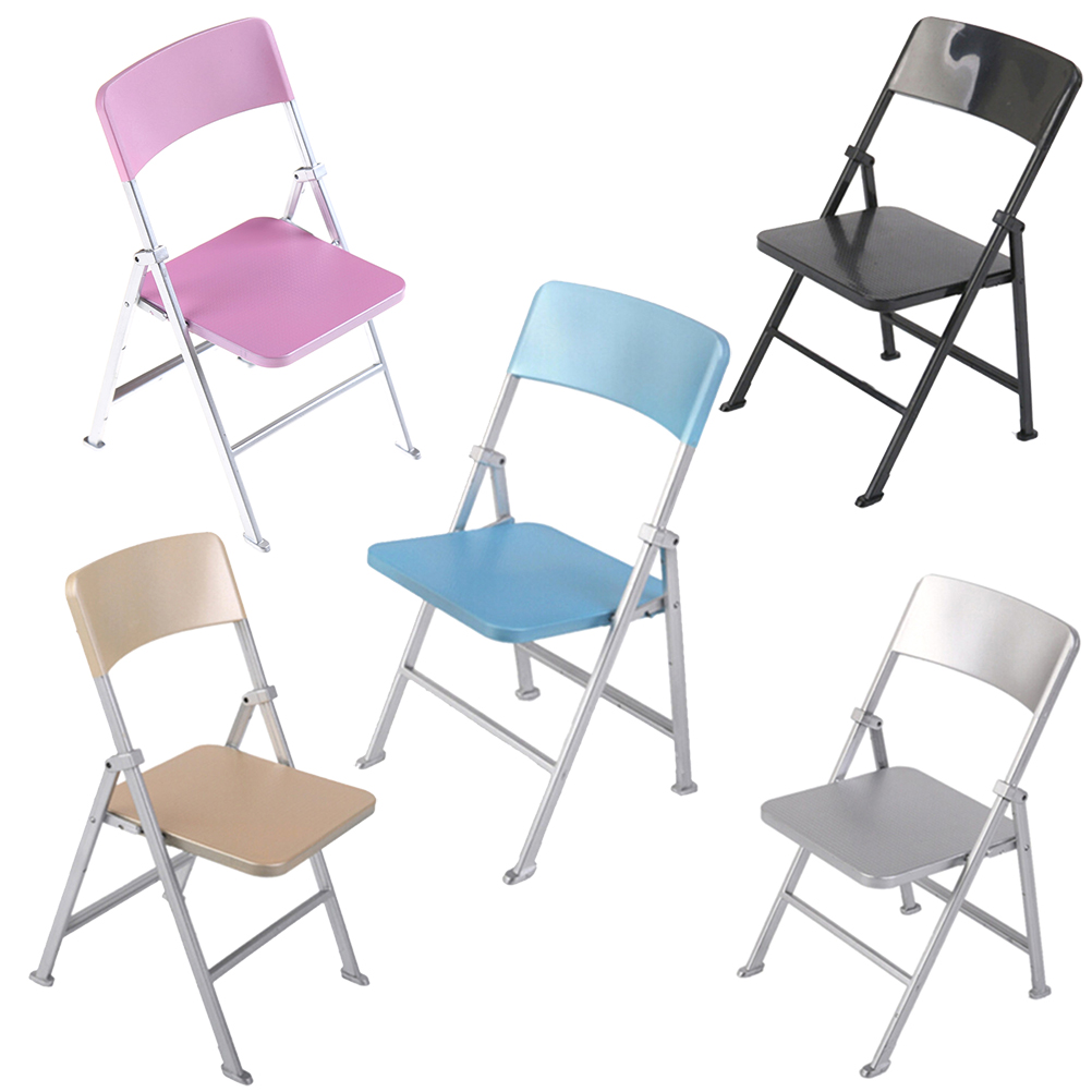 Cute Folding Chairs 1 6 Scale Cute Min Dollhouse Furniture Folding Chair For Dolls Action Figures Multicolor Children Toys Accessories In Dolls Accessories From Toys
