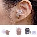 Escuta portátil Mini Digital Hearing Aid Ear Amplificador de Som no Ouvido Volume do Tom Tom Ajustável Cuidado Da Orelha Dispositivos