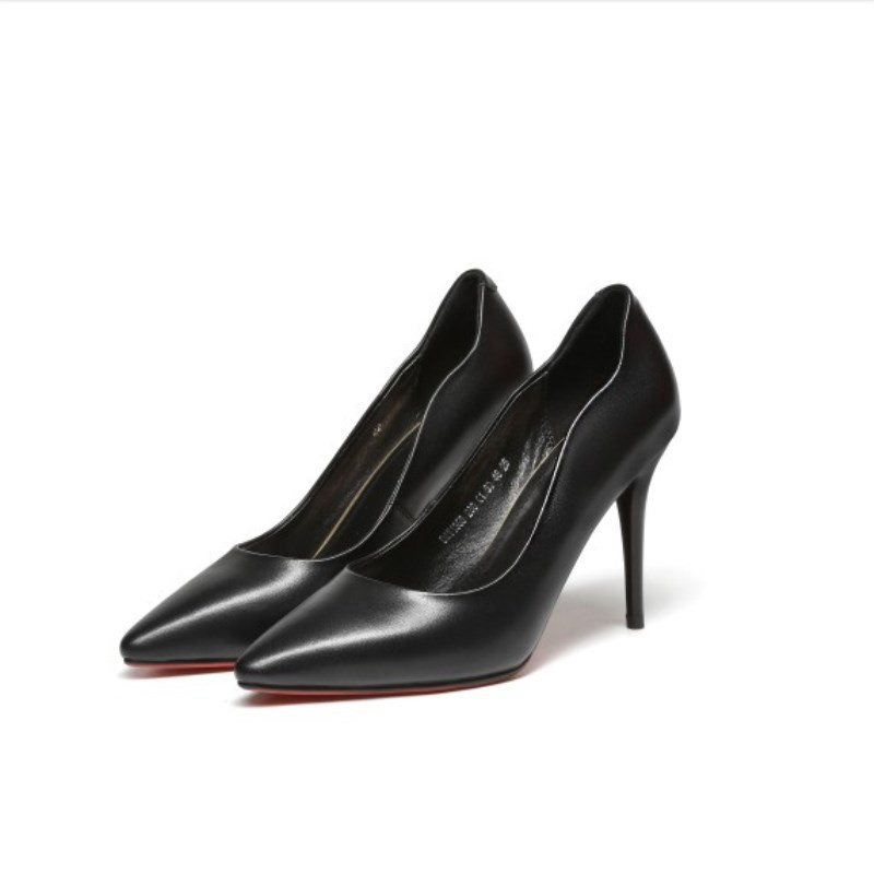 2019 new European and American fashion single shoes pointed shallow mouth stiletto womens shoes black ljj 04282019 new European and American fashion single shoes pointed shallow mouth stiletto womens shoes black ljj 0428