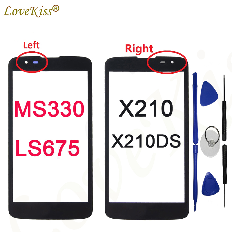 K7 Touch Screen Lens For LG K7 X210 X210DS MS330 LS675 Tribute 5 Touch Panel Outer Glass LCD Display Front Cover No Sensor Tools
