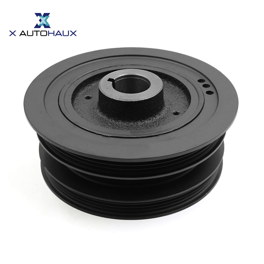 X AUTOHAUX 12303-4S100 Harmonic Balancer Crankshaft Pulley for Nissan Frontier 1999-2003 Xterra 3.3L 2000-2004
