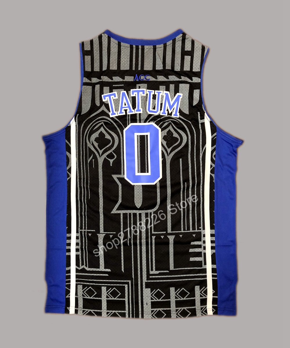 ... buy popular 81336 f169a Jayson Tatum 0 Duke Blue Devils Stitched  Basketball Jersey Black-in ... a334140cd