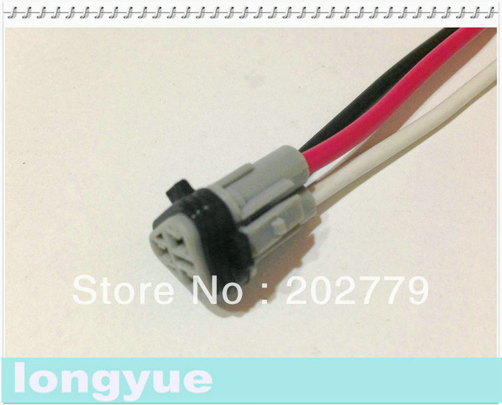 Longyue 2pcs Universal 3 Pin Waterproof Connector With