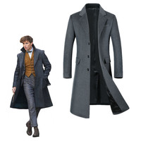 Fantastic Beasts Cosplay and Where to Find Them2 Costume Newt Scamander Adult Wool woolen cloth