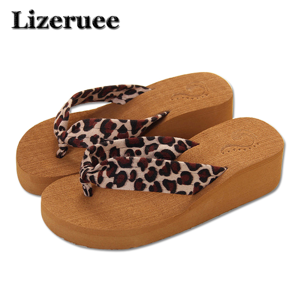 Lizeruee Summer Woman Shoes Platform bath slippers Wedge Beach Flip Flops High Heel Slippers For Women EVA Ladies Shoes HS089 10pcs lot opa656ub