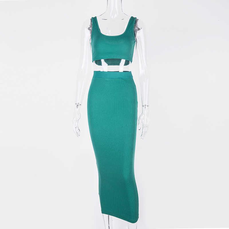 Женское длинное платье в рубчик NewAsia Garden, белое обтягивающее платье, розовое раздельное платье, черная клубная одежда, соблазнительные платья-миди на осень-зиму