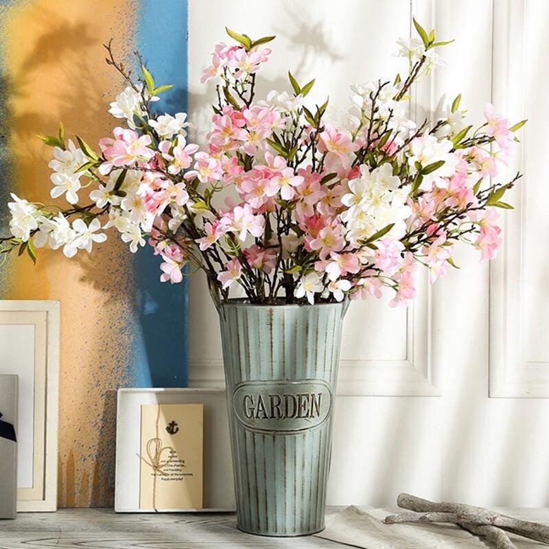5pcs Decorative Silk Artificial Cherry Blossoms Plants Trees ...