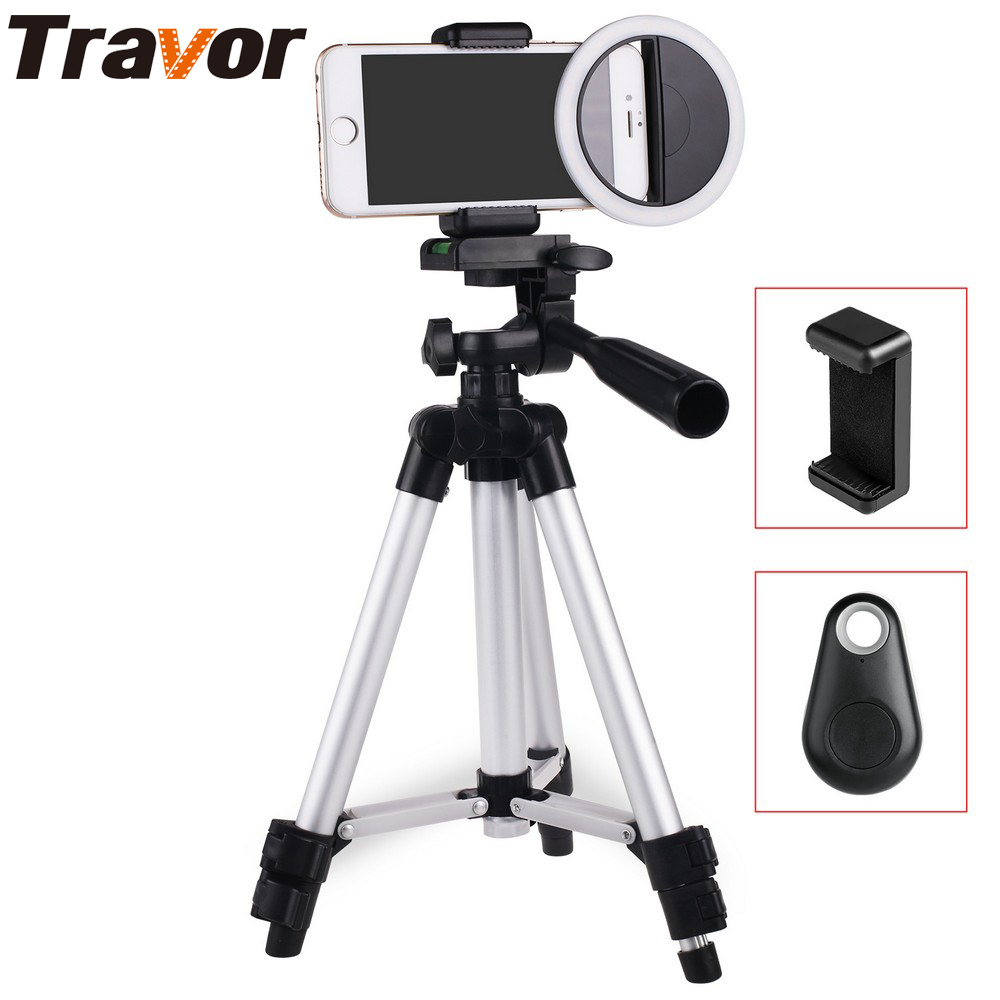 Travor Enhancing Photography Selfie Ring Light for Smartphone +110cm Tripod+Phone holder+Bluetooth remote control
