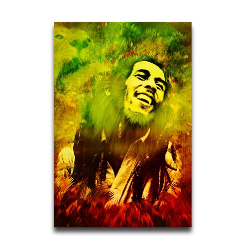 Large Vintage Home Decoration Antique Poster Printed Bob Marley Wall ...