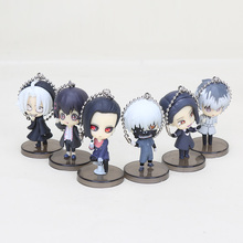 2019 Anime Tokyo Ghoul 6pcs/set Pendant figurine Kaneki Ken Souta Washuu Furuta Q Version Mini Action Figure Keychin Toys anime tokyo ghoul figure toys mask ken kaneki melanism pvc action figure collection model toy gift