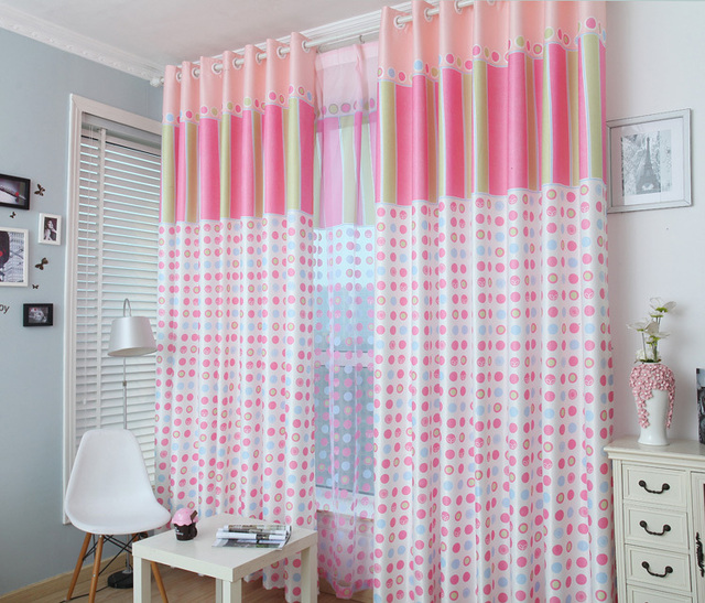 Garden Sweet Polka Dot Curtains IKEA/custom Made Production/bedroom Bay  Window/